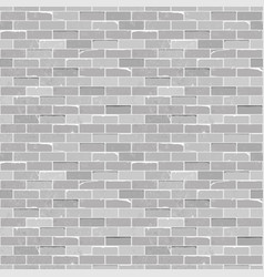 Seamless texture vintage white brick wall vector