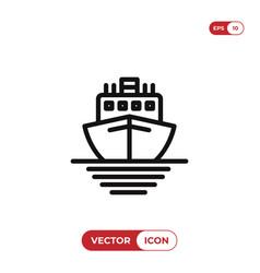 ship icon cruise symbol vector image