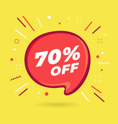 special offer sale red bubble 70 percent discount vector image