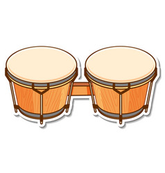Sticker bongos drum musical instrument vector