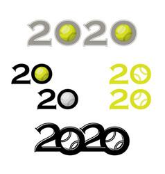 tennis symbol new 2020 year vector image