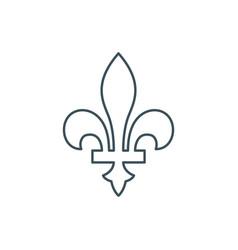 thin line fleur-de-lis icon vector image