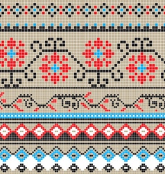 Traditional pixel pattern vector image