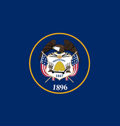 Utah state flag vector