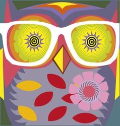 Vintage cartoon owl poster vector
