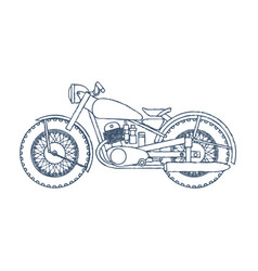 vintage motorcycle logo design template vector image