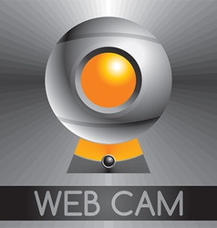 Web cam design background vector