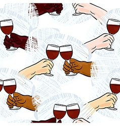 Wine toast background vector