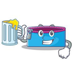With juice pencil case character cartoon vector