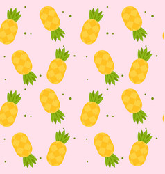 yellow pineapple pink pattern background im vector image