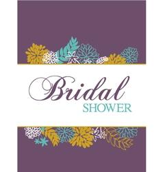 bridal shower card vector image