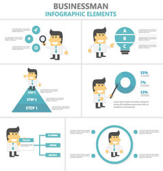 Businessman Infographic elements flat design set vector image