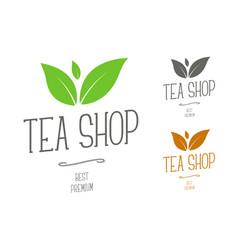 design logos for a tea shop or a brand company vector image