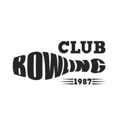 Bowling emblem vector