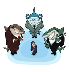 Business sharks vector image vector image