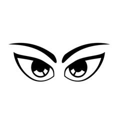 cartoon eyes expression vector image