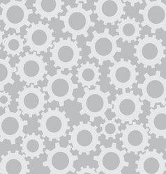 Cog wheel seamless pattern vector image