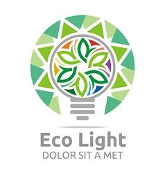 eco light bulb design colorful icon vector image vector image