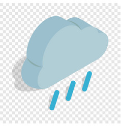 heavy rain isometric icon vector image