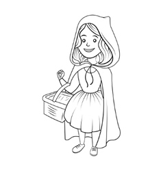 Little Red Riding Hood coloring book vector image