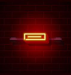 neon symbol minus sign city signboard vector image