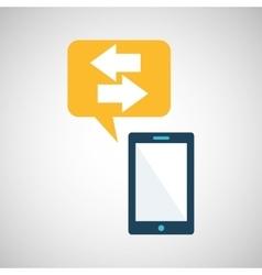 Smartphone blue cartoon bubble speech vector