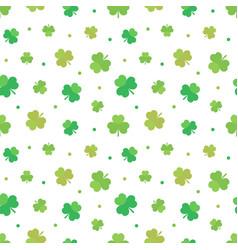 st patricks day seamless pattern background vector image