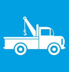 car towing truck icon white vector image