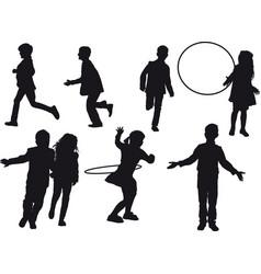 children indulge vector image vector image