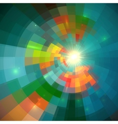 Green shining bright tiled abstract background vector image