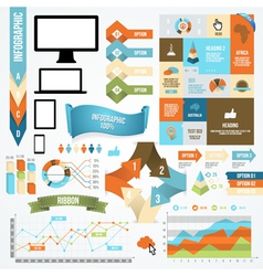 Infographic Icon and Element Collection vector image vector image