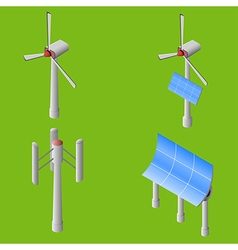 wind solar generators vector image