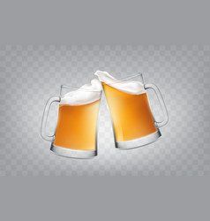 a realistic style two glass vector image