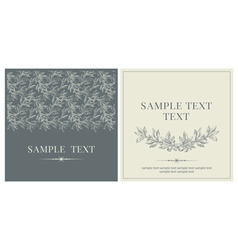 Set of invitations vector image