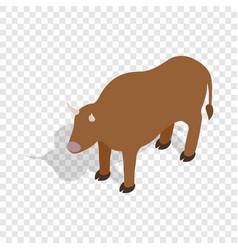 switzerland cow isometric icon vector image