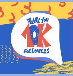 10k folowers thank you card vector