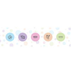 5 homemade icons vector