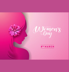 8 march womens day greeting card design with vector image