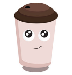a coffee cup or color vector image