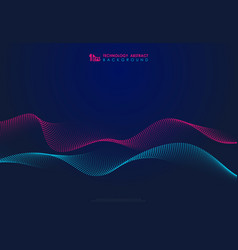 Abstract technology particles wavy design 3d vector