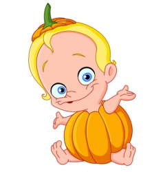 Baby pumpkin vector