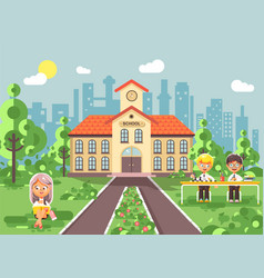 Back to school character vector