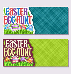 Banners for easter holiday vector