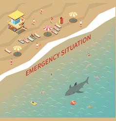 Beach lifeguards vector
