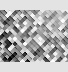 black white abstract mosaic background vector image