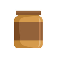 Butter jar icon flat style vector