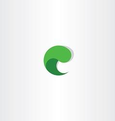 C letter c green sign logo element icon design vector