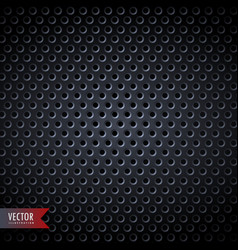 carbon metal background with holes vector image
