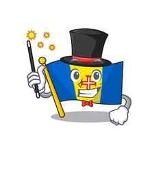 Cartoon character design flag madeira magician vector