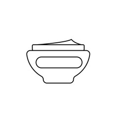cream icon vector image